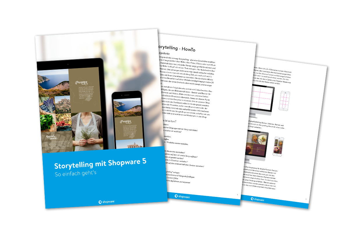 Storytelling with Shopware 5 - Easy as can be