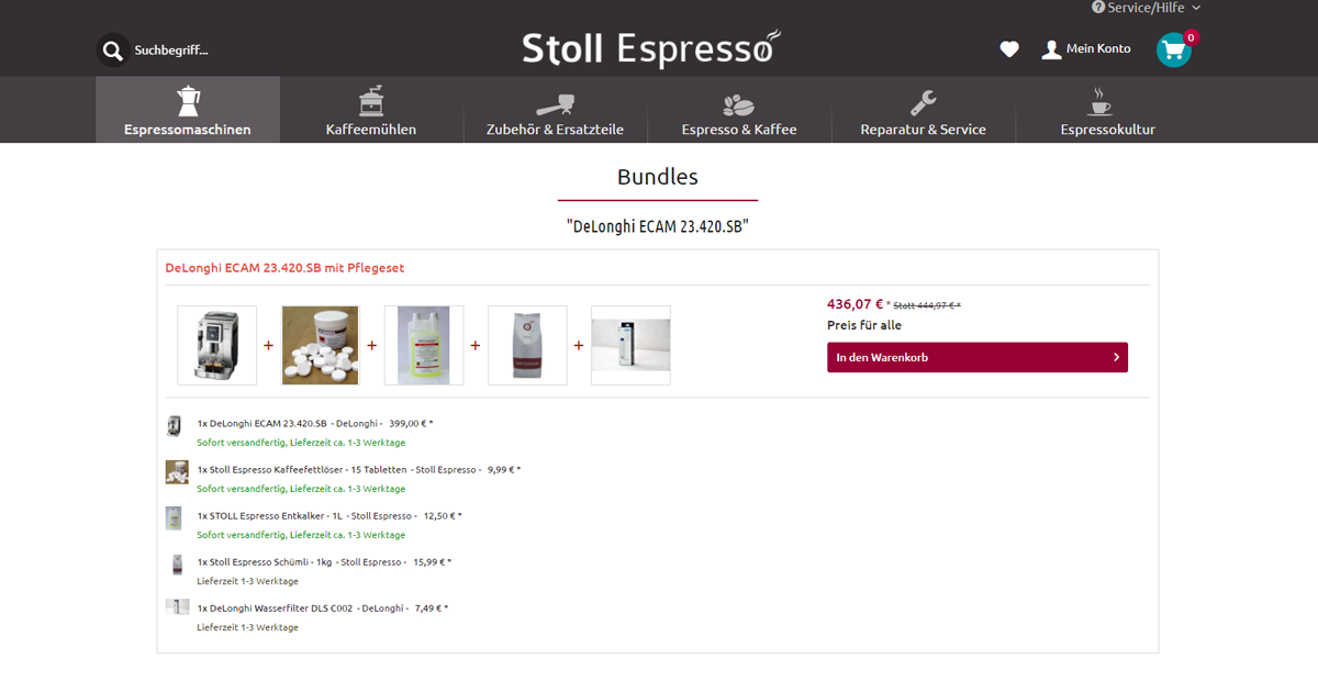 Stoll Espresso Bundles migration from magento to shopware stoll espresso shopware (en)  at bayanpartner.co